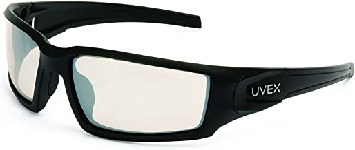 Uvex by Honeywell Hypershock Safety Glasses, Black Frame with SCT-Reflect 50 Lens & Anti-Scratch Hardcoat (S2943)