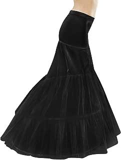 Mermaid Fishtail Petticoat Slip Full Shape Floor-Length Dress Gown Evening Party Black White S/M L XL