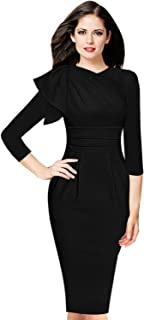 6d820190d862 VFSHOW Womens Celebrity Elegant Ruched Cocktail Party Bodycon Sheath Dress