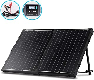 Renogy 100 Watt 12 Volt Monocrystalline Off Grid Portable Foldable 2Pcs 50W Solar Panel..
