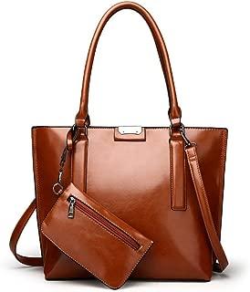Fine Bag/Women's Handbag Fashion Large-Capacity One-Shoulder Portable Mother Bag Multi-Pocket Capacity (Color : Brown, Size : One Size)