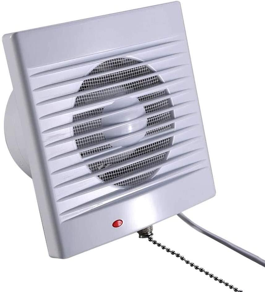 Ventiladores Extractor de Aire Ventilación ventilador de pared, baño cocina extractor de humos de escape, bajo nivel de ruido del ventilador de escape de gran alcance pared con cordón y pasadores, Apt