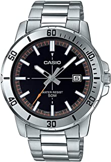 Casio Mens Quartz Watch, Analog Display and Stainless Steel Strap MTP-VD01D-1E2VUDF