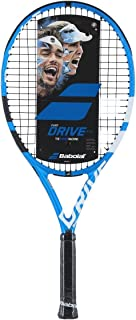 Babolat Pure Drive 25 Junior Blue/White Tennis Racquet Strung with Custom Racket String Colors