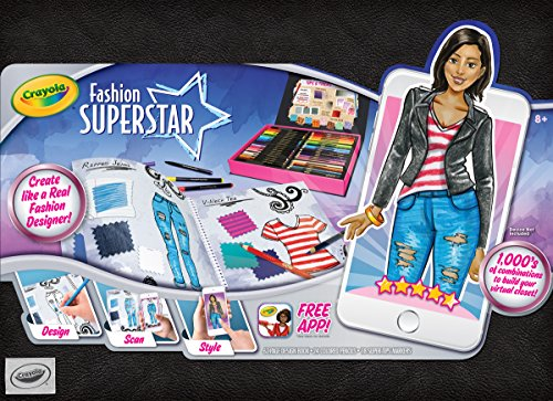 Crayola Fashion Superstar, Coloring Book, Toy for Kids, Gift Ages 8, 9, 10, 11, 12 (95-0291)
