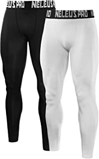 Neleus Men's 2 Pack Compression Tights Sport Running Leggings Pants