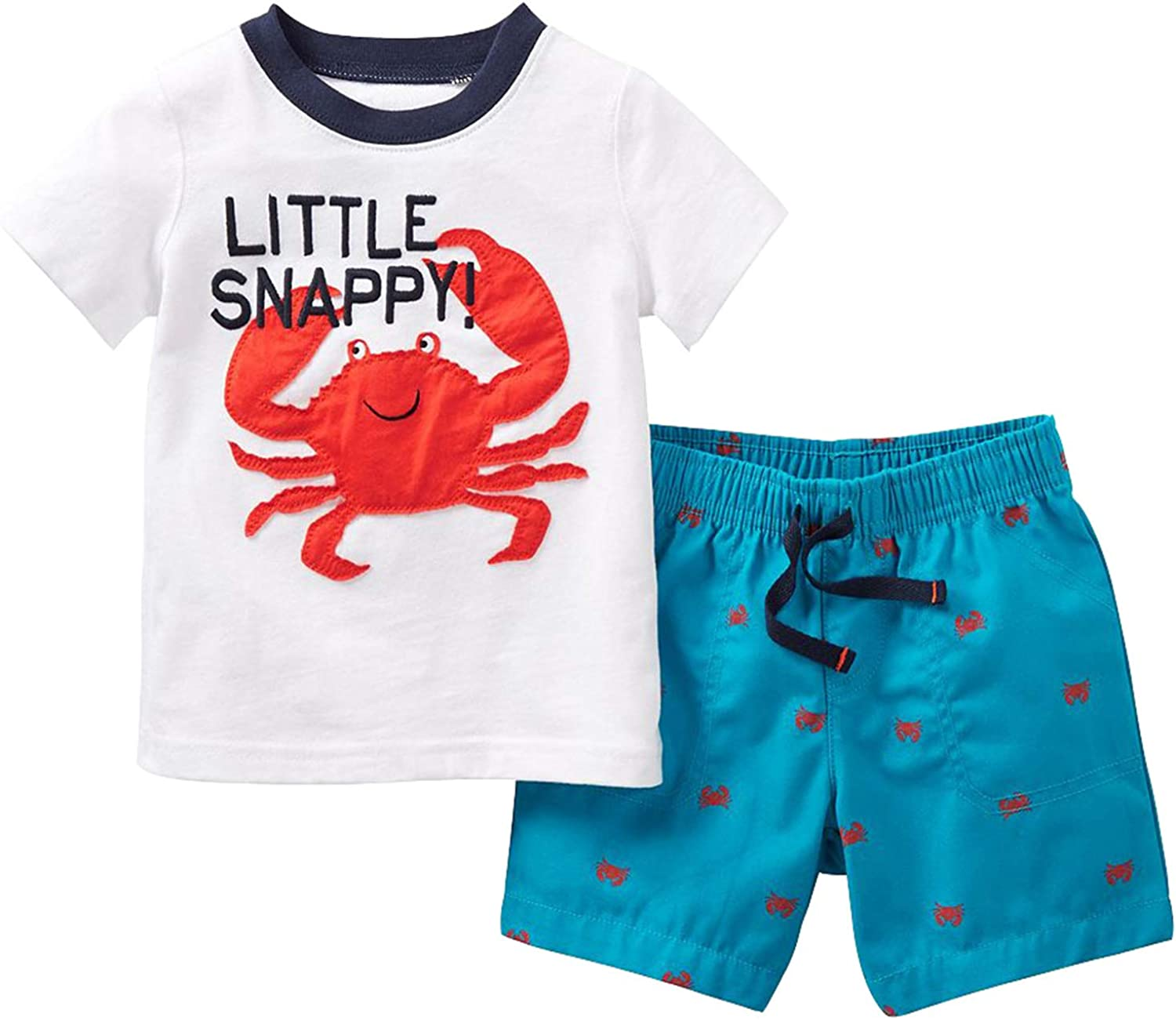 Toddler Boys Cotton Clothing Sets Shorts Tee Sale and Short Direct store Sleeve