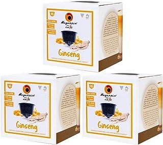MAGAZZINI DEL CAFFE Café au Ginseng soluble, 48 capsules compatibles Nescafè Dolce Gusto de Préparé pour boisson aromatisé...