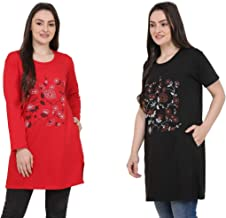 CRAFTLY Women & Ladies Full and Half Sleeve Combo Polo T-Shirt Multi-Color