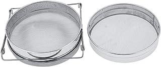 Honigfilter-Netz, MAGT 2-teiliges Edelstahlsieb Honigsieb Silber Honigfilter-Maschensieb Imkereiausrüstung Imkerei-Werkzeuge