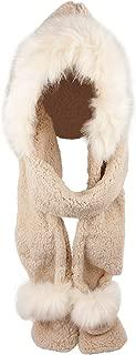 Soft Winter Warm Hooded Scarf Headscarf Neckwarmer Hoodie Hat