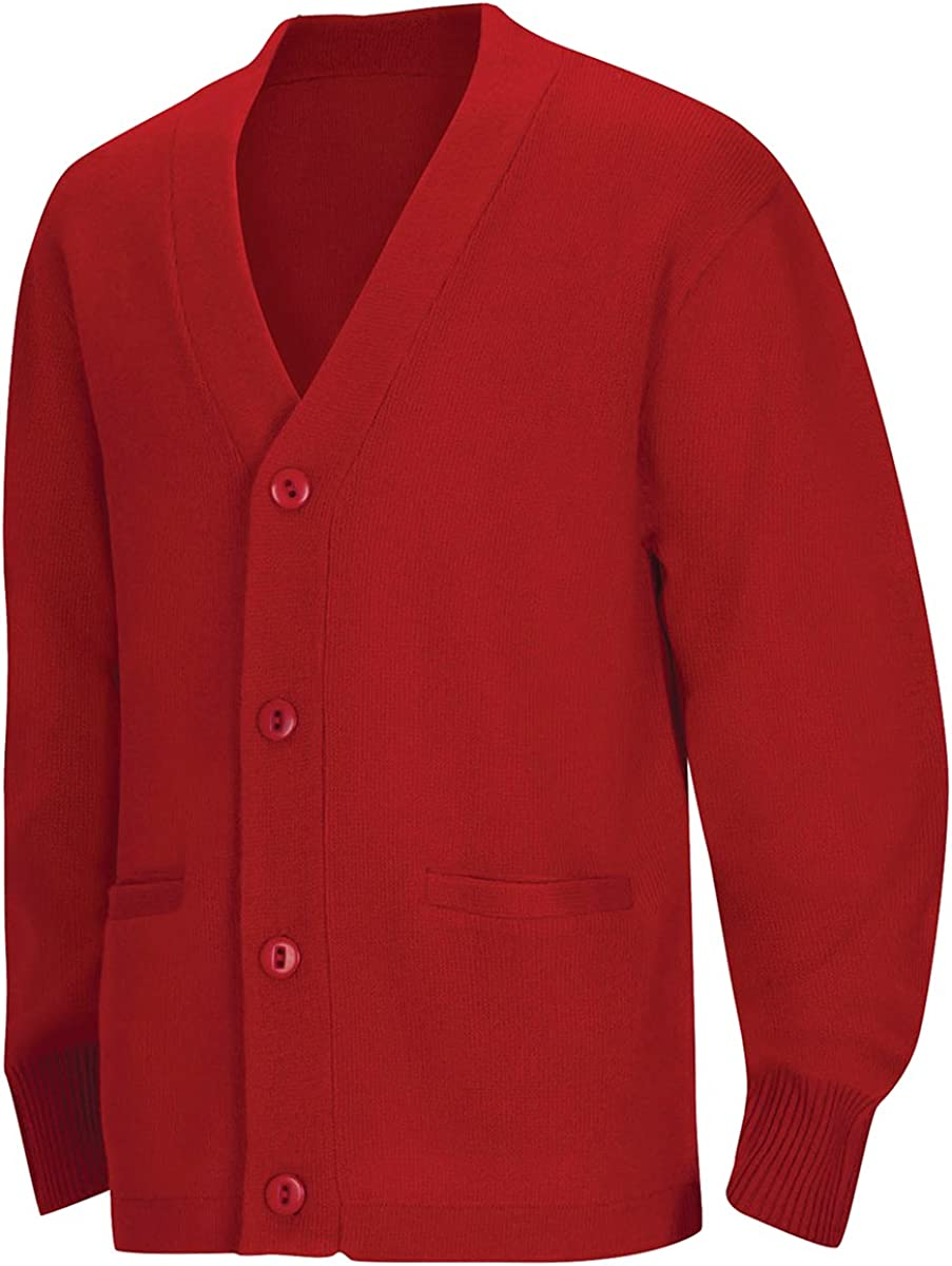 CLASSROOM Boys' Uniform Cardigan Sweater: Clothing