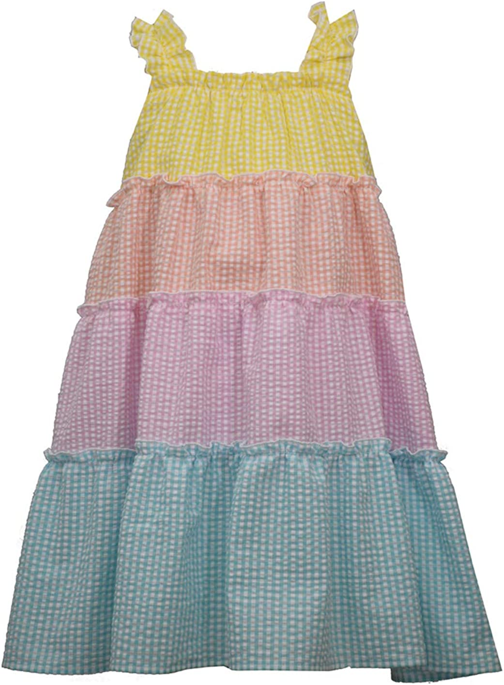 Bonnie Jean Dress - Rainbow Seersucker Dress for Toddler and Little Girls