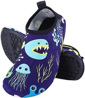 Yuanhua 1 Children Swim Shoes, Antislip Water Shoe Soft Barefoot Socks Swim Surf Aqua Walking Beach Yoga