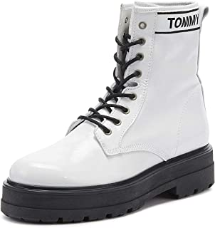 TOMMY HILFIGER Patent Leather Flatform Womens Boots
