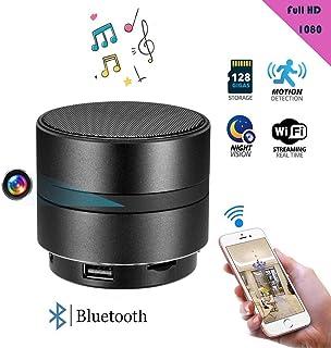 Balscw-J 4K HD Mini Spy cámara Oculta IR visión Nocturna WiFi inalámbrico Bluetooth Altavoz Oculto espía cámara grabadora ...