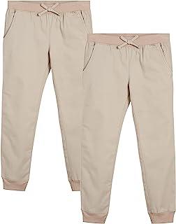 Girls' School Uniform - Khaki Jogger Pants (2 Pack)