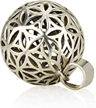 Flower of Life Ball Pendant Sterling Silver 925 Size 0.6
