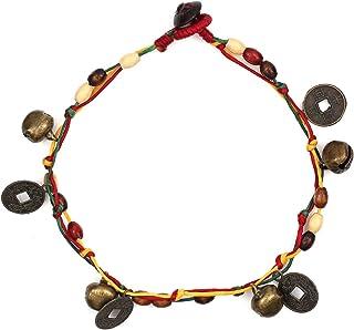 Idin Jewellery - Cavigliera Fatta a Mano in Legno con Campane e medaglioni