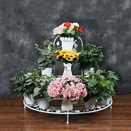MLHJ NNIU- Porte-Fleurs en Fer Fleur Supports créatifs Fleur Supports Trois Couches 94 * 81 * 52 Balcon de la Salle de séjour