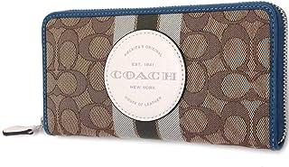 Coach Signature PVC Accordion Zip Around Wallet
