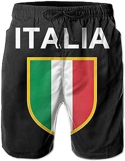 Italia Italian Flag Italy Men's Beach Shorts Beach Board Shorts Quick Dry Swimming Shorts