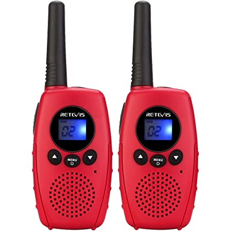 Retevis RT628B Walkie Talkies for Kids,Simple Kids Walkie Talkie Toys with VOX Keyboard Lock,Boys and Girls Gifts for Inside Outside Adventure Camping Hiking (Red, 2 Pack)