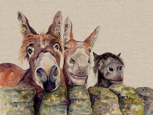 Jane Bannon Johnny, Freckles & Halfpint 30 x 40cm Canvas Print Leinwanddruck, Mehrfarbig, 30 x 40 cm