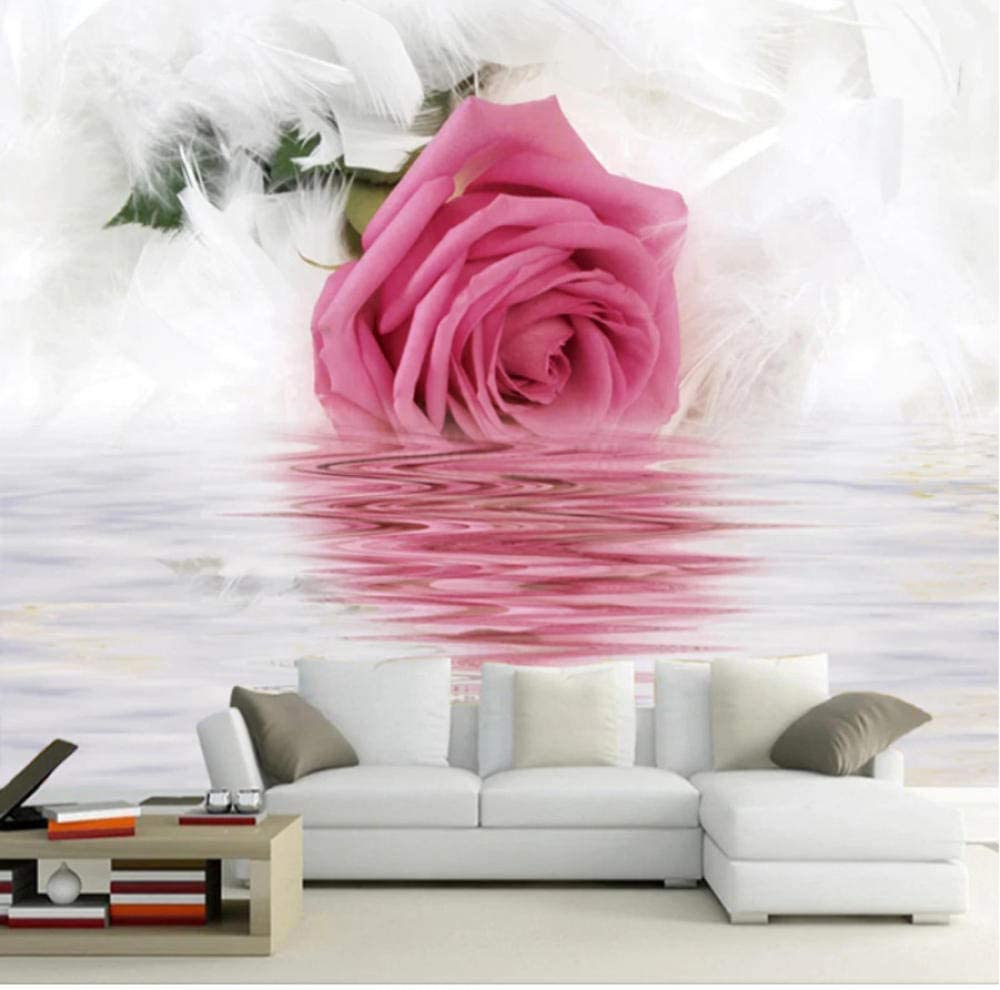Pbldb Romantic Rose Credence Feather Reflection Wallpaper Our shop most popular Photo Water On