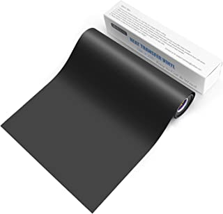 SOMOLUX HTV Iron on Vinyl 12inch x 25feet Roll Compatible with Silhouette and Kricut Easy to Cut & Weed Iron on Heat Transfer Vinyl DIY Heat Press Design for T-Shirts Glossy Black