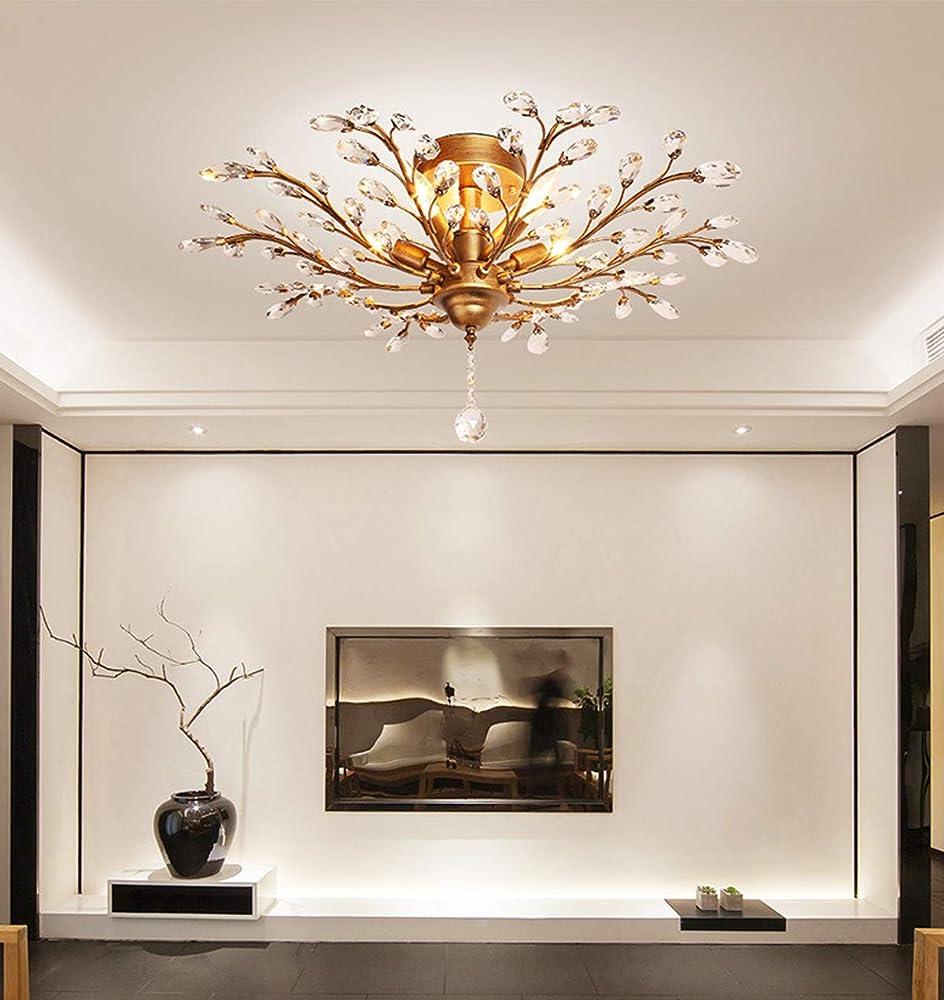 Kuandar chandelier,lampadario di cristallo a ciondolo, led RYYABC208