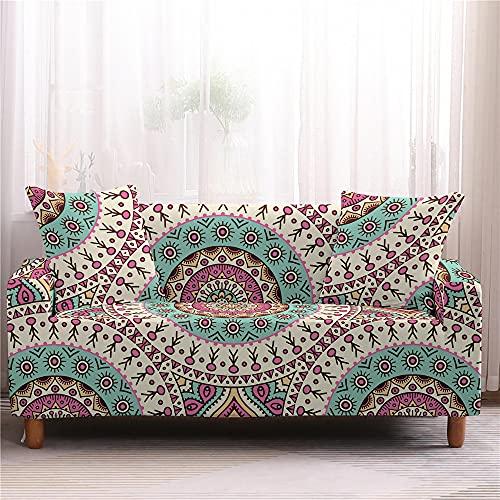 AMZAO Fodere per divano ad alta elasticità 1 2 3 4 posti grande fiore Fodera per divano Fodera per divano componibile Fodera per divano a forma di L Fodera protettiva per mobili per animali domestic