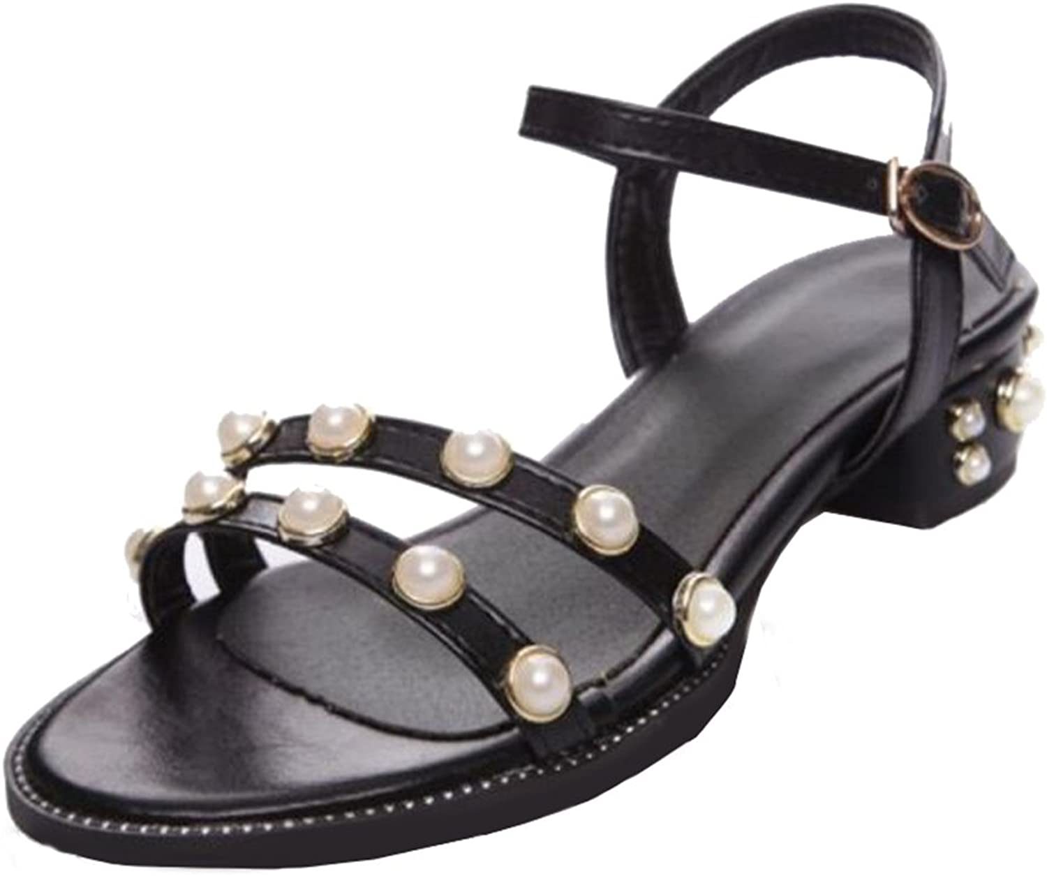 Cocey Women Casual Sandals with Chunky Heel and Simple Designed