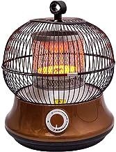 XHHWZB Campana de cristal de carbono Plato jaula de pájaro asado Fuego Ahorro de Energía Eléctrica del Ministerio del Interior Mini Speed Hot pequeño sol Sacudiendo la cabeza del ventilador (Tamaño: