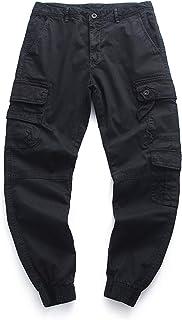 Zestion Pantalones de Trabajo de Combate de Carga para Hombre, Lisos, Multibolsillos, Resistentes al Desgaste, para Camina...