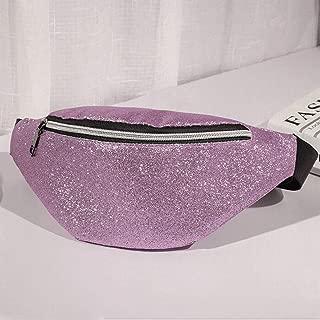 YWSCXMY-AU Women Waist Pack Chest Bum Bag Zip Pouch Travel Beach Hip Purse Multi-Color Optional (Color : Purple)
