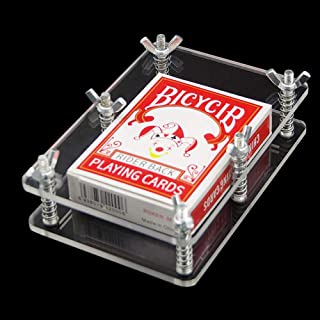 Enjoyer Crystal Card Press-Crystal Card Flatten Restore Deformation Magic Tricks Stage Illusions Cards Magic Gimmick Magician Accessories