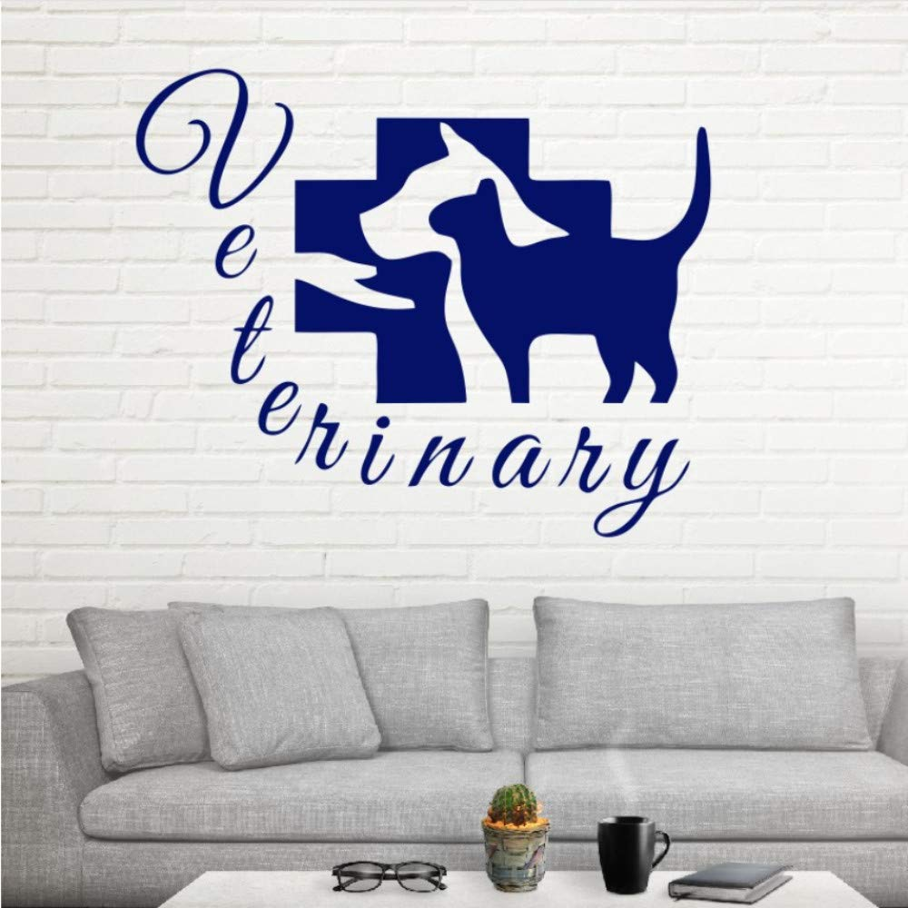 Amazon Wuyyii 53 43センチかわいい動物ようこそ犬猫ペットショップポケモン壁紙diyの壁飾りウォールステッカービニールアート家の装飾キッズルーム C ウォールステッカー オンライン通販