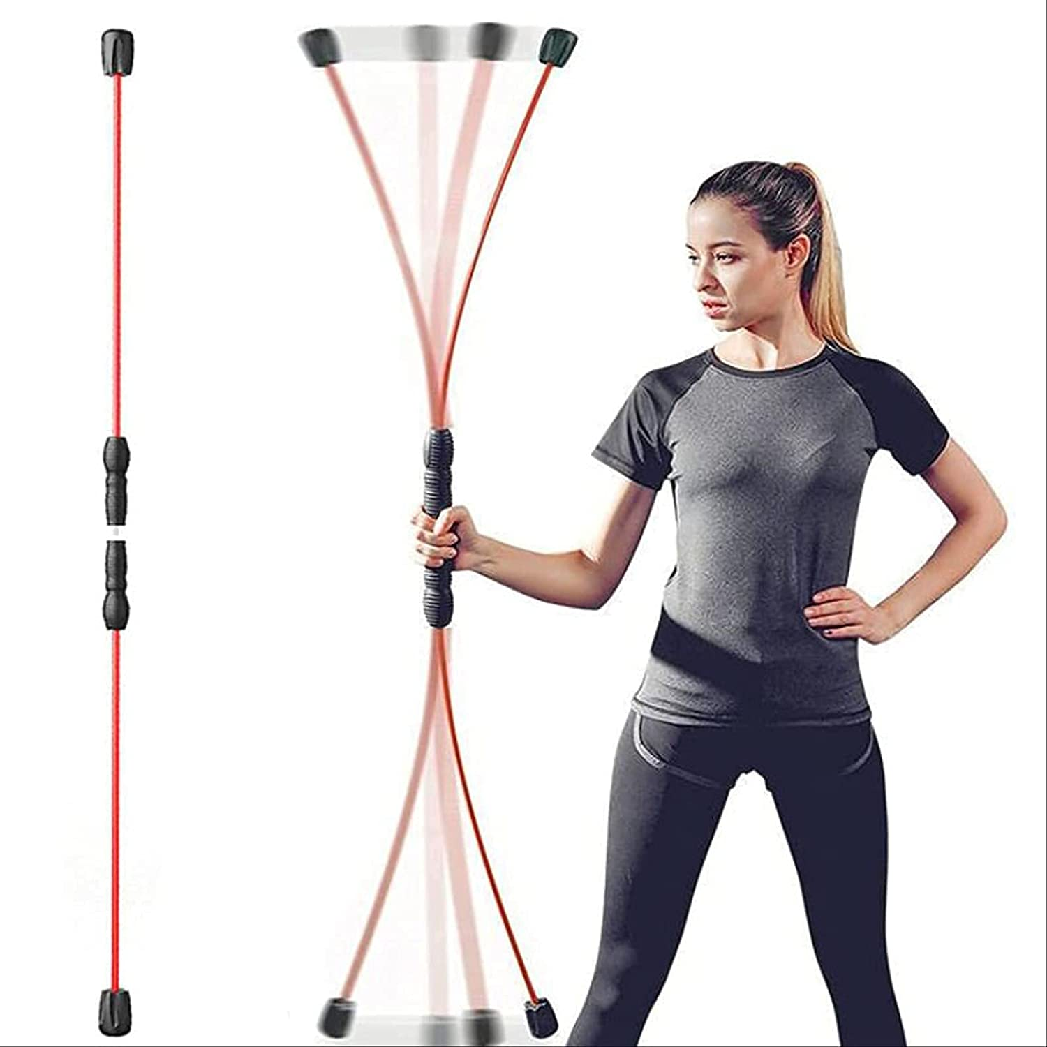 Genuine NKNVO Elastic Fitness Multifunctional Exercise Bar Max 41% OFF