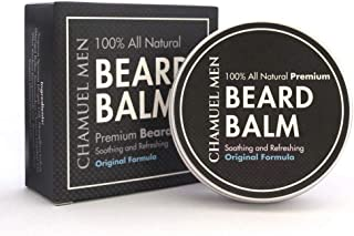 Beard Balm-Chamuel Men's All Natural Leave-In Conditioner Will Moisturize and Style Your Beard-Absorbs Quickly-Keeps Your Beard Looking Great All Day Long! AWESOME SCENT-Large Tin-GREAT LOW Price!