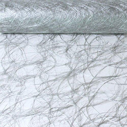 Sizoweb Tischband Silber 5 Meter lang 30cm breit