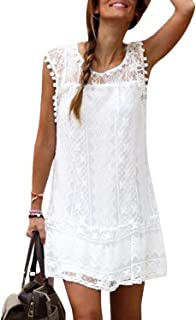 reputable site ba4a4 c0a34 Amazon.it: VESTITO DA MARE - Bianco / Vestiti / Donna ...