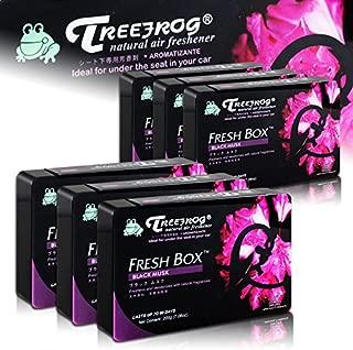 HK5 6 X Tree Frog Black Musk Natural Extreme Car Air Freshener Fresh Box Universal
