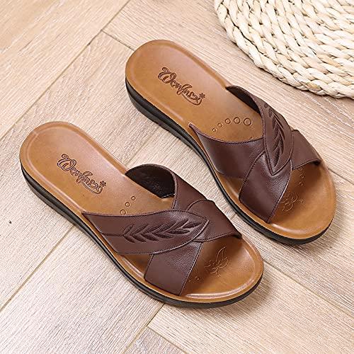 Kirin-1 Zapatillas De Casa para Mujer Verano,Zapatillas De Novia,Zapatillas De Desgaste De...