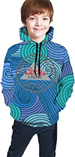 Zhwjko Coors Light Beer Youth Boys Girls Pullover Hoodies Hooded Seatshirts Sweater