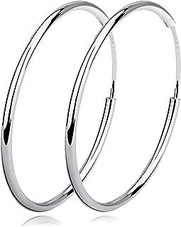 infinity circle earrings