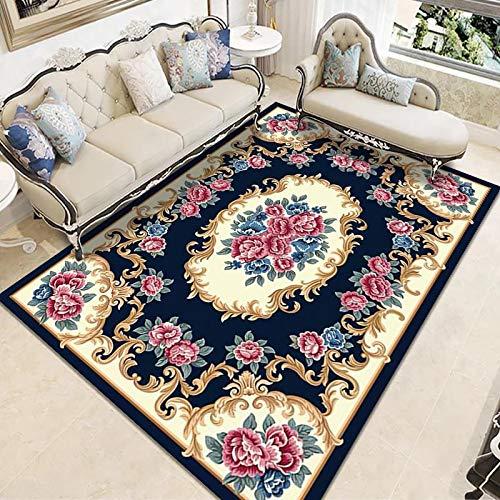 ZAZN Neuer Teppich Im Chinesischen Stil rutschfeste Verdickung Wohnzimmer Couchtisch Sofa Schlafzimmer Schlafzimmer Nachttisch Teppich Waschbares Material