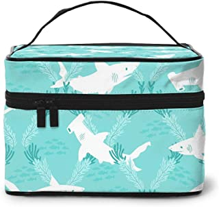 Portable Travel Makeup Cosmetic Bags Cartoon Cute Shark Professional Toiletry Bag Organizer, Accessories Case, Tools Case