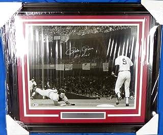 """Pete Rose Autographed Framed 16x20 Photo Cincinnati Reds""""Hit King"""" Beckett BAS #E94727"""
