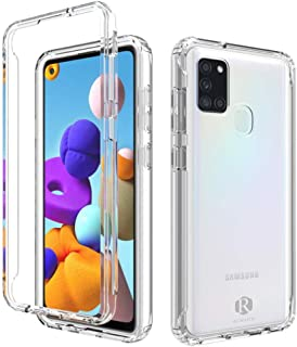 Remson Colorful Gradient Dual Layer Shockproof Back Case Cover for Samsung Galaxy A21S Protective Case Back Case Cover (Cl...